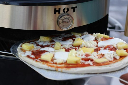 pizza nel barbecue