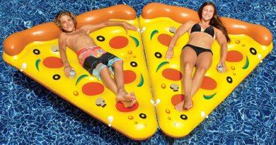 Materassino gonfiabile fetta di pizza